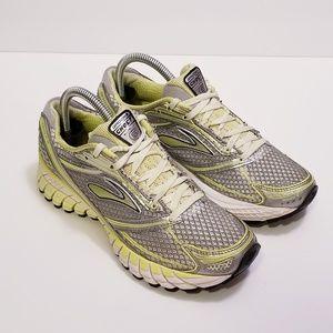Brooks Ghost Sz 8 Gray/Yellow Running Sneakers